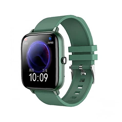 YepYes Inteligente inalámbrico Reloj Impermeable Llamada Sport SmartWatch de Seguimiento del Ritmo cardíaco Dispositivo Pulsera Verde Reloj