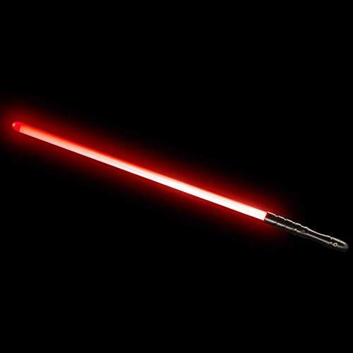 YDD Jedi Sith LED Light Saber, Force FX Heavy Dueling, Rechargeable Lightsaber, Loud Sound High Light with FOC, Metal Hilt, Blaster, Christmas Toy Gift (Black Hilt Red Blade)