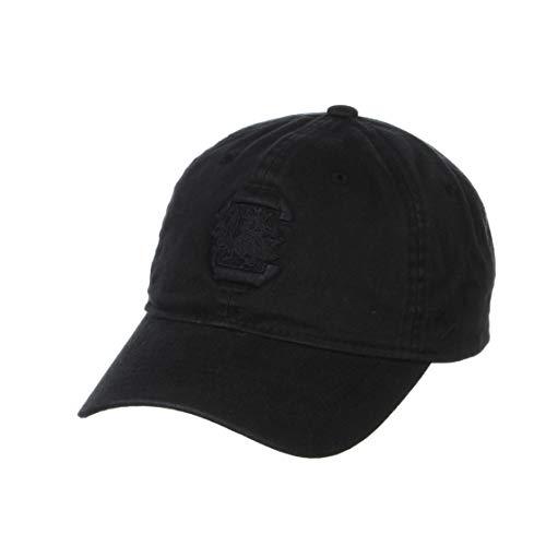 NCAA Zephyr South Carolina Fighting Gamecocks Mens Echo Black Relaxed Hat, Adjustable, Black
