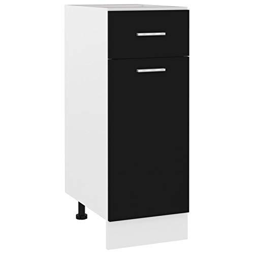 Tidyard Förvaringsskåp köksskåp med 2 hyllor och 1 låda, underskåp kök kök kök möbel skåp 30 x 46 x 81,5 cm, spånskiva