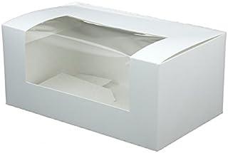 BIOZOYG Boîte pâtisserie Cupcake Papier Blanc I Box Muffin Cupcake de Haute qualité pâtisserie Box Cadeau Carton gâteau Re...