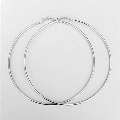 10 cm eenvoudig modieus ontwerp vrouwen grote ronde metalen ring oorbellen casual party nachtclub oorbellen sieraden zilver