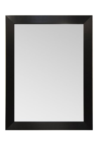 Wood Frame Mirror Modern Elegant Wall Mounted Mirror, Rectangle, Espresso - Black Finish, 3 inch wide Flat Frame for Bathroom, Vanity, Living Room, Dining Room, Kitchen, Bedroom, Office By Raphael Rozen (30x20)