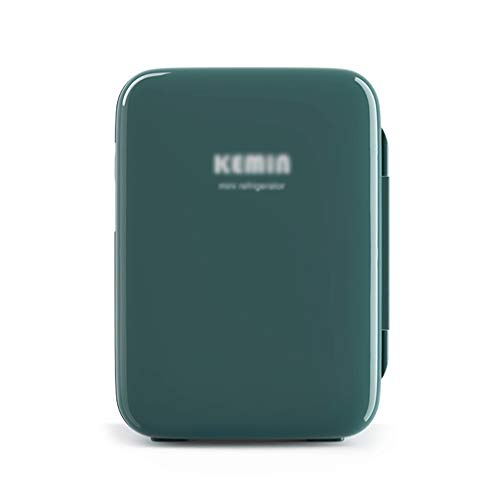 BYZHP Mini Nevera Mini Refrigerador Refrigerador de automóvil Mini refrigerador portátil 10L Cooler y más cálido para el Dormitorio de la Oficina del Dormitorio (Color : Green)