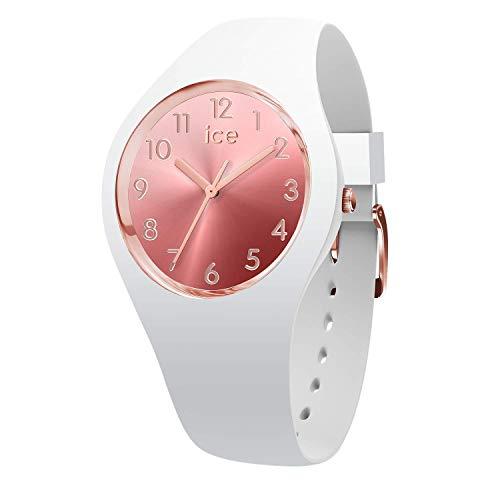 ICE-WATCH ICE Sunset Blush - Reloj Blanco para Mujer con Correa de Silicona, 015744 (Small)