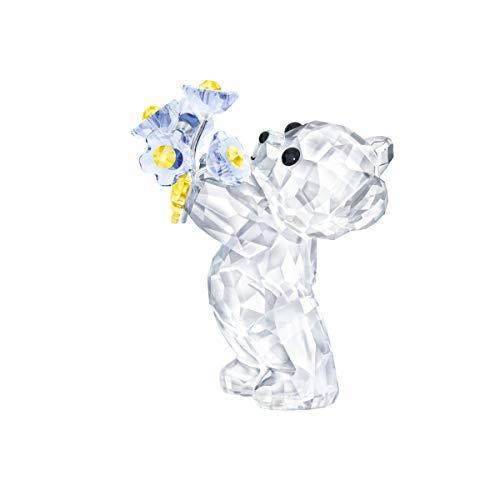 Swarovski Kris Bär – Vergissmeinnicht Figurine, Kristall, Mehrfarbig hell, 4,5 x 2,6 x 3,7 cm