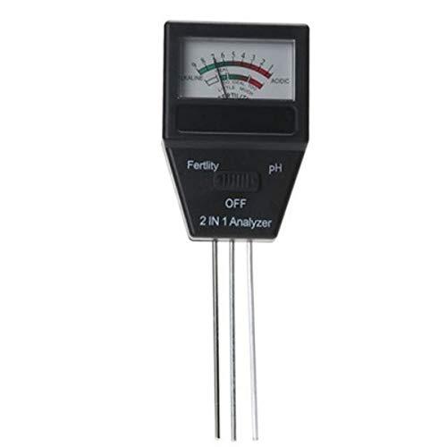 UOEIDOSB 2 en 1 Suelo Suelo Sensor Medidor de Humedad Planta fértil PH Tester de Alta precisión Ph Tester Cubierta Herramientas del Suelo al Aire Libre Tester 40%