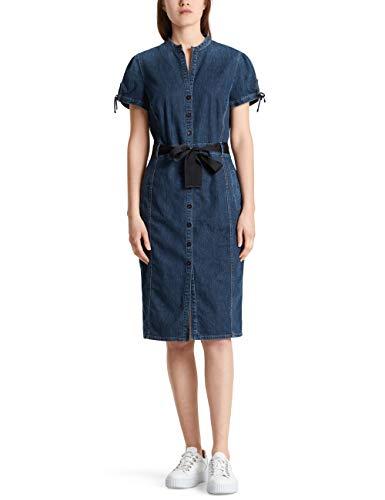 Marc Cain Collections Damen MC 21.21 D07 Kleid, Blau (Vintage Indigo 357), 46 (Herstellergröße: 7)
