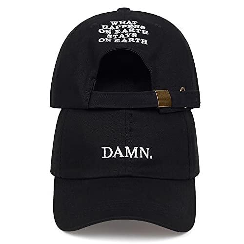 VSDFS Rojo Vino Kendrick Lamar Maldita Gorra Bordado Damn.Sombrero De Papá No Estructurado Hueso Mujeres Hombres El Rapero Gorra De Béisbol