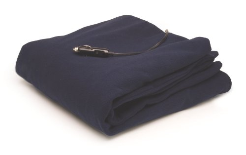 Roadpro 12-Volt Polar Fleece Heated Travel Blanket, ( 58 x 42.5 Inch )