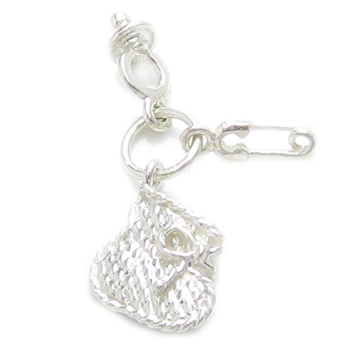 Baby set strlng silver charm Bootee Dummy Safety Pin .925 x1 Babies Charms