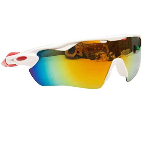 Óculos Esportivo Sol Bike Ciclismo Proteção Uv Sol (Branco)