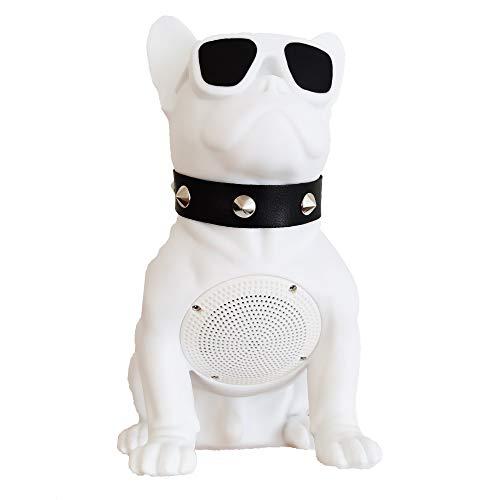 Bluetooth Speakers French Bulldog Art Bluetooth Speakers, Portable Bluetooth Speakers, Suitable for Mobile Phones, Laptop, Tablets, TV Bluetooth Speakers (Medium, White:8.26/9.05/4.33in)