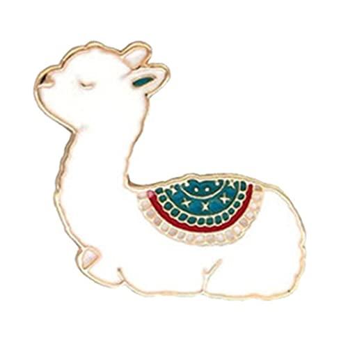 1pc Esmalte Animal Patillas De Metal Insignia Broche Broches De Alpaca Pin Pin De La Solapa De Mujeres De Los Hombres De Costura Decoración