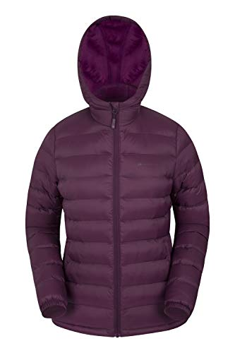 Mountain Warehouse Seasons Womens Winter Jacket - Padded Ladies Coat Burgundy 6