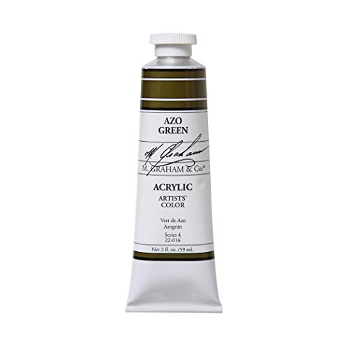 M. Graham 2-Ounce Tube Acrylic Paint, Azo Green