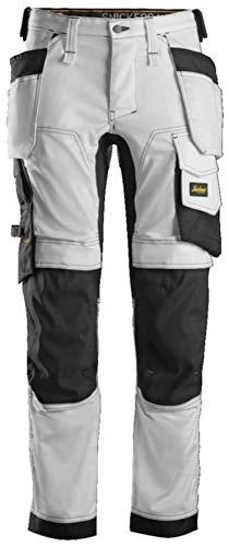 Snickers Workwear Unisex Pants, White, 48