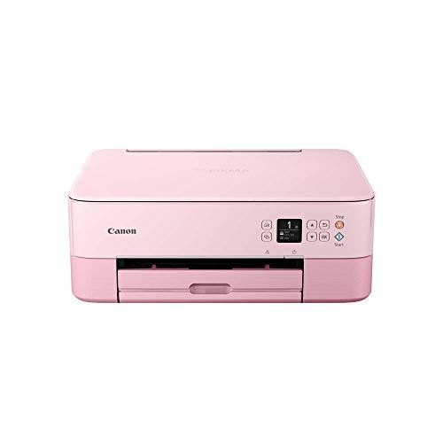 Canon PIXMA TS5352 Drucker Farbtintenstrahl Multifunktionsgerät DIN A4 (Scanner, Kopierer, OLED, 4.800 x 1.200 dpi, USB, WLAN, Duplexdruck, 2 Papierzuführungen), rosa