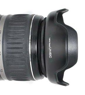 Maxsima - EW-60C Compatible (Nuevo diseño de pétalos de Flor) Parasol para Canon EF-S 18-55mm f/3.5-5.6 Lentes. 450D 500D 550D 600D 650D 700D