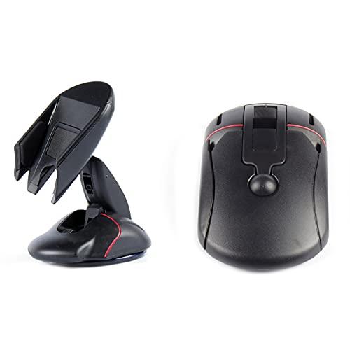 Jomiaeslion Soporte para teléfono para automóvil, Soporte Giratorio para teléfono con Forma de ratón de plástico Ajustable para Tablero de Instrumentos de Ventana automotriz