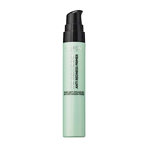 L'Oréal Paris Infaillible Anti-Redness Primer, die Make-up-Grundierung gleicht Rötungen im Gesicht aus, bereitet die Haut optimal auf das Make-up vor