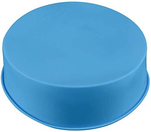 Silikon Kuchenform Runde Backform 6 Zoll BPA-frei, Antihaft-Backformen Pfanne, Blau, 2 Stück