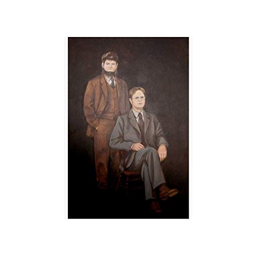 HVT Global: Dwight and Mose Painting Canvas Print Wrapped Canvas - Funny Canvas Home Decor - Gift for Your Friend, Your Family's Member - Multi-Sizes: