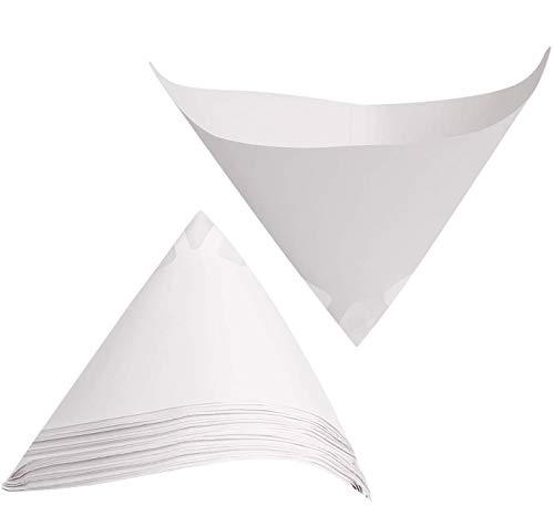 DollaTek 100 pezzi Filtri per carta conici per vernice Filtro per vernice monouso Imbuto in carta con maglia fine