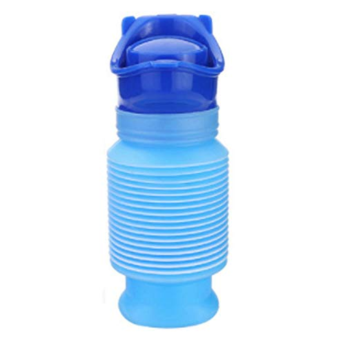 Baoniansoo Shrinkable Urinal, Portable Mobile Toilet Pee Bottle, Unisex Adult Reusable Emergency Potty, for Standing Up Travel Camping Outdoor Activities