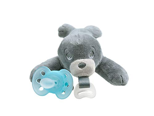 Philips Avent Ultra Soft Snuggle Pacifier, 0-6 Months, Seal, SCF348/04