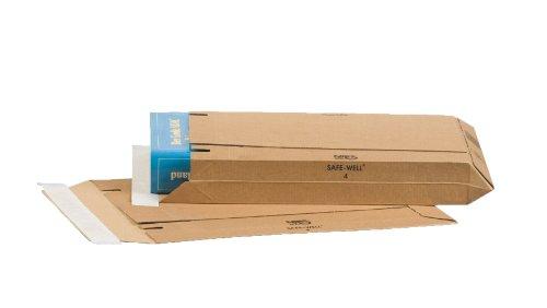 25 pezzi Nips 142618114 Safe-Well/® colore marrone Buste in cartone ondulato,148 x 175 mm