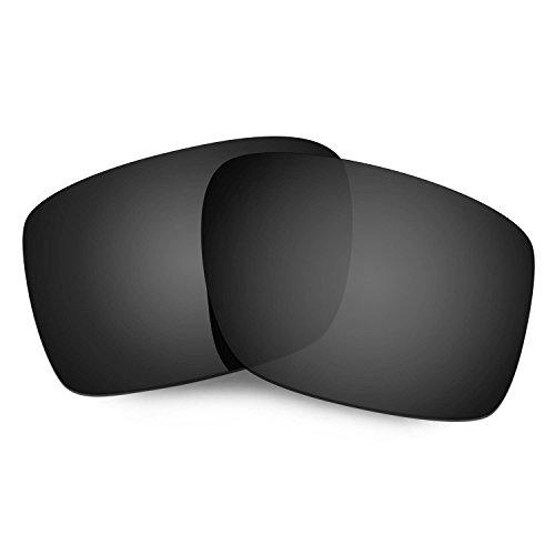 HKUCO Reforzarse Lentes de repuesto para Oakley Double Edge Gafas de sol Negro Polarizado