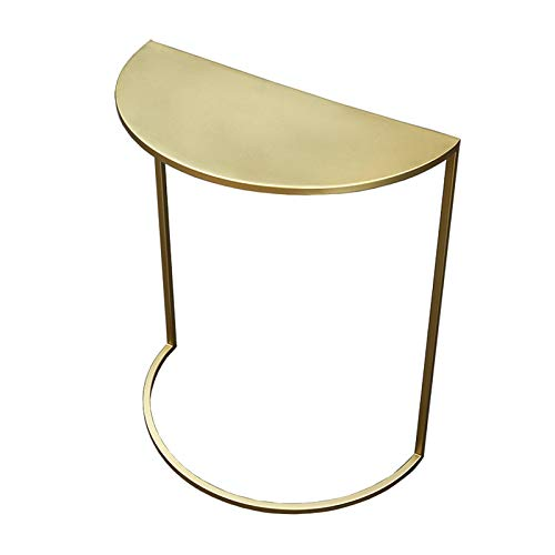 GXYAWPJ Small Table Marble Against The Wall Side Table Golden Iron Craft Suitable For Living Room Corridor Bedroom Corner