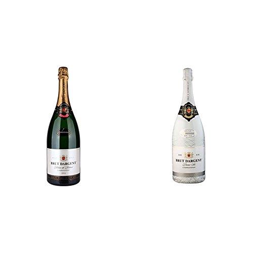 Brut Dargent Chardonnay Halbtrocken - Méthode Traditionnelle (1 x 1.5 l) + Brut Dargent Ice Chardonnay Demi-Sec Halbtrocken 2015 (1 x 1.5 l)
