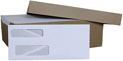 1 000ct #9 Double Window Security Envelopes. Fits Gummed Popular Tucson Mall standard - Tint