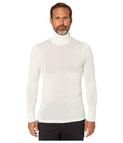 Hanro Herren Woolen Silk Rollkragenshirt Thermounterwäsche - Oberteil, Beige (cygne 0795), Large (Herstellergröße: L)