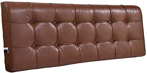 Almohadas de Lectura Cama de cuero cuña Noche Noche Almohada respaldo del sofá almohada lumbar cojín almohada de lectura Almohada de lectura para cabecero de cama ( Color : Gold , Size : 155*58*10cm )