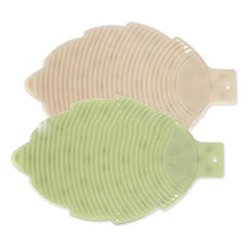 SCKL Waschbrettblatttyp Waschbrett Bad Saugnapfes PVC Weich Waschbrett Haushalt Waschbrett 2 Pcs