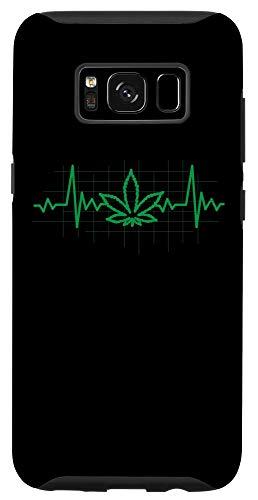 Galaxy S8 Weed Leaf Heartbeat 420 Cannabis Marijuana Stoner Gift Case