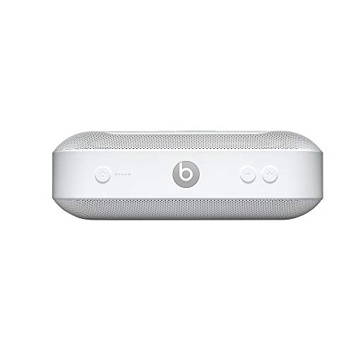 BeatsPill+ mobiler kabelloser Bluetooth Lautsprecher– StereoBluetooth, 12Stunden Wiedergabe, Mikrofon für Telefonanrufe– Weiß
