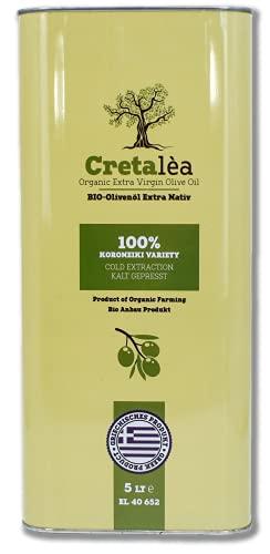 Cretalea   BIO Extra Natives Olivenöl   5 Liter Kanister   aus Kreta   100{8c5cb4193d6acc6134be190423dbcbee7ac5fe919864bb914cca8824a00925d6} handverlesen, Singvogelgeschützt   Dimitrakis-Familie seit 1890   Organic   kaltgepresst und sortenrein