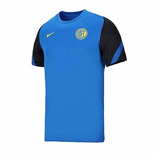 of nike soccer shirts Nike 2020-2021 Inter Milan Training Football Soccer T-Shirt Jersey (Blue)
