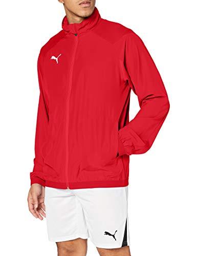 PUMJV|#Puma Men LIGA Sideline Jacket Track Jacket - Puma Red-Puma White, L