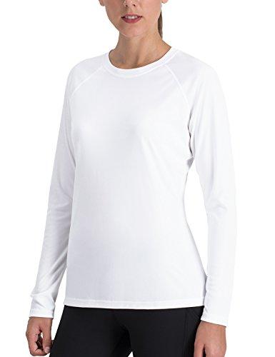 Naviskin Women's Sun Protection UPF 50+ UV Outdoor Long Sleeve T-Shirt White Size XL