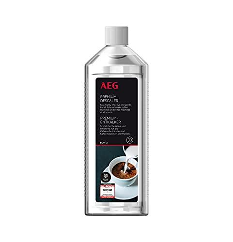 AEG ECF4-2 Premium-Entkalker (Für Kaffeevollautomaten, Kapsel- und Espressomaschinen, alle Marken, Testsieger, 500 ml, 5 Anwendungen, schonend, geruchsneutral, umweltverträglich, recyceltes Material)