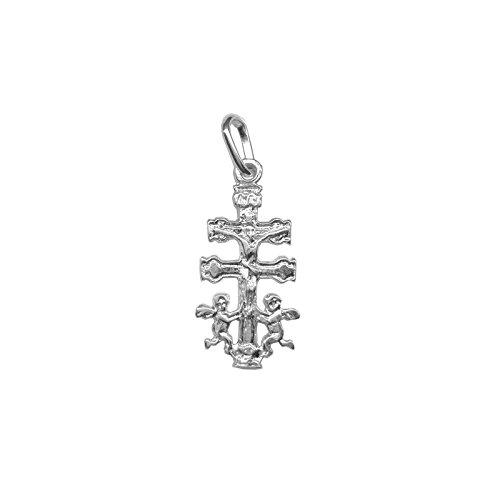 Cruz de Caravaca en plata de primera ley 925m - Angeles - Bendecidas y fabricadas en Caravaca - Diferentes tamaños (1.8)