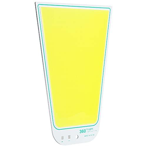 Luces para Acampar Luz de Tienda con Control Remoto, 200 x 140 mm COB Panel de luz LED Control Remoto Luz de Placa COB para Acampar al Aire Libre Seguridad de Baja presión para Tiendas de(Blanco)
