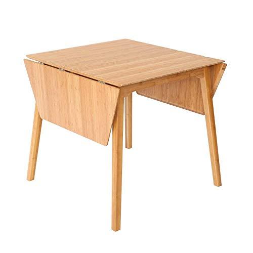 FTFTO Productos para el hogar Mesa Plegable Mesa de Madera de bambú portátil/Mesa de Comedor móvil/Mesa de Estudio Plegable/Escritorio de computadora/Escritorios de 138 * 66 CM