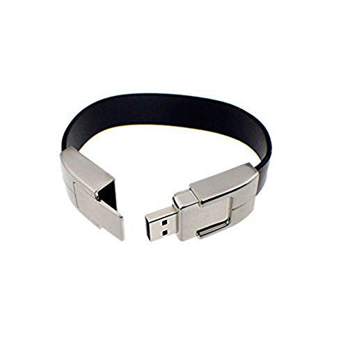 Kentop Bracciali penna flash driver Chiavetta USB, Pelle, Nero, 16 GB