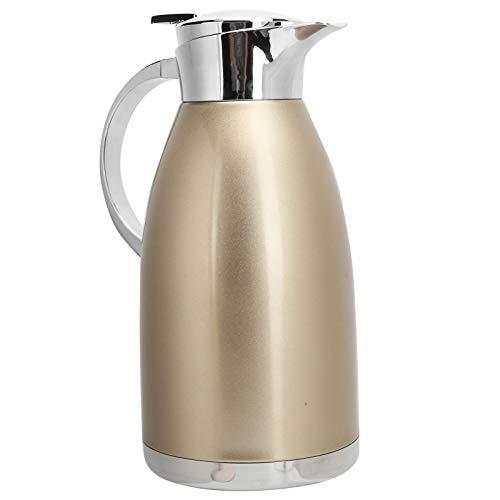 Cafetera con aislamiento al vacío, jarra térmica para café, olla térmica para mantener caliente, acero inoxidable de doble pared para jugo, leche, té, café, té, bebidas(Golden)